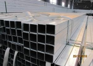 China Easy Installation Galvanized Steel Square Tubing 25mm ~ 180mm Optional on sale