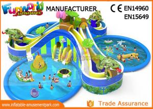 China Hot Welding Inflatable Water Parks / Giant Water Playground Equipment With 0.9mm PVC Tarpaulin on sale