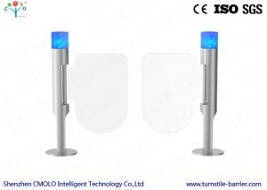 China Intelligent Glass Security Turnstile Gate , Waist Height Turnstile on sale