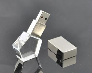 China Transparent promotional usb flash drive 3D engrave logo for business on sale