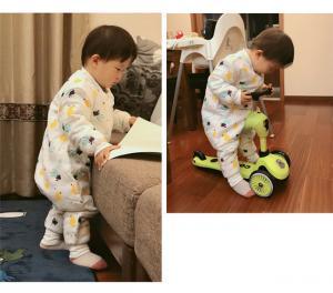 China Custom Newborn Organic Cotton Baby Pajamas Long Sleeve Blank Baby Romper on sale