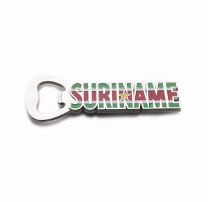 China Custom Beer Company Brand Promotion Gift Tourism Die Casting With Color Painting Fridge Magnet Bottle Opener on sale