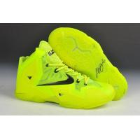China Nike Lebron James 11 Fluorescent Green Black on sale