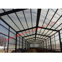 China Prefabricated Steel Structure Poultry Farming Shed For Chicken Farm Building And Cattle Farm Building on sale
