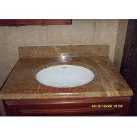 Yellow Beige Honed Granite Countertops , Granite Stone Kitchen Countertops