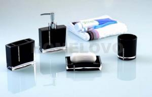 China Recyclable Pure Black Or White 4pcs Plastic bathroom collection sets for Traveling on sale