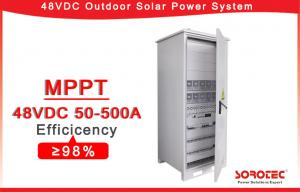China 50A Hybrid Off Grid Solar Power System 48V DC Power Supply for Emergency Lighting,Remote Monitoring on sale