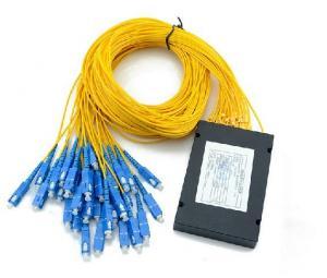 China Planar Lightwave Circuit (PLC) Fiber Optic Splitter ABS 1*16 For Network on sale
