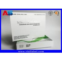 Paper Medicine Packaging Box Silver Foil Metallic For Hgh Injections Growth Hormone