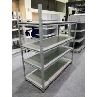 China Grey Color Industrial Boltless Shelving Mild Steel Material For Supermarket on sale