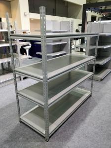 China Grey Color Industrial Boltless Shelving Mild Steel Material For Supermarket on sale