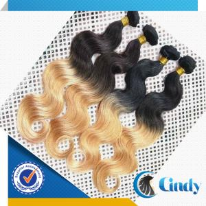 China two tone 14 inches indian cheap loose body wave human hair weaving on sale