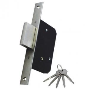 China 189f-3d Mortise Lock Body Household Door Locks With Single Tongue And 5 Cross Keys on sale