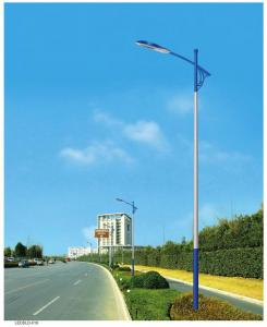 China 50ft 55ft 60ft galvanized steel led road lamp pole, street lighting column specifications on sale