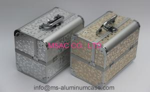 China Portable Aluminum Cosmetic Train Case , Light Weight Aluminium Makeup Box on sale