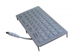 China Top panel mounted 46 keys programmable industrial metal keypad with shorten USB and membrane on sale