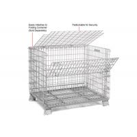 China Multi Function Mesh Storage Cage Metal Cage Bins Strong Reinforced Design on sale