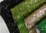 Twill Backing Fine Glitter Fabric , Colorful Glitter Fabric Roll For Walls
