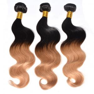 China Factory cheap best 5A quality 26inch blonde 1B/27 unprocessed body wave brazilian ombre blonde hair extensions on sale
