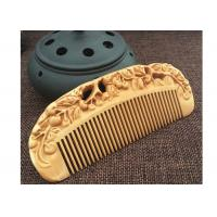 Anti static Creative Wooden Crafted Gifts Double sided Carved wooded Comb