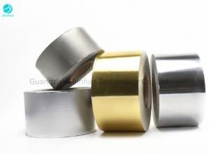 China Matt Embossing Gold Silver Aluminium Foil Wrapping Paper In 1500m Bobbin For Cigarette Packaging on sale