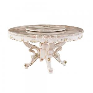 Quality Round Rotating Centre Set 6 Chair Marble Dining Table Oy Ct02 For