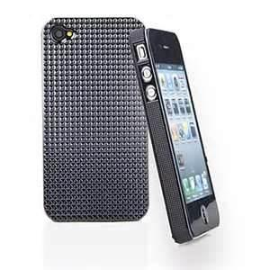 China Black Plastic Case for iPhone 4 ,Crystal Surface on sale