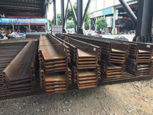 Hot Rolled Steel Sheet Pile JIS A 5528 Used For Construction Water