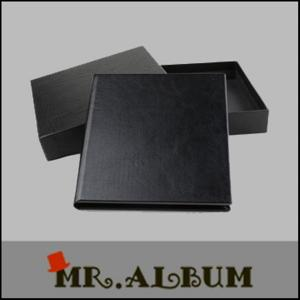 China Leather single CD case with plain cover_CD case manufacturer_black leather CD case on sale