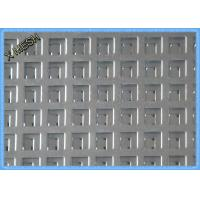 Thick Square Hole Perforated Sheet Metal Hot Dipped Galvanized 1.5mm Thickness
