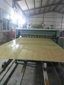 China Линия штранг-прессования панели стены мрамора WPC, производственная линия панели мрамора PVC пластичная on sale