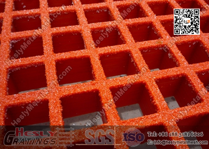 Red Color Molded FRP Grating Mesh China Supplier