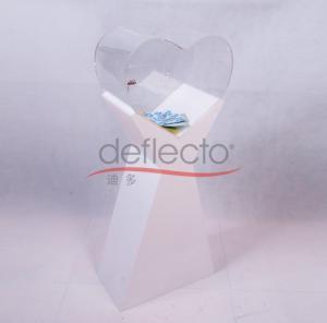 China Deflecto Acrylic Donation Lock Box/Sign Box With Lock,399x201x915(mm) on sale