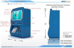 China Touch Screen Payment Kiosk Terminal with Windows System , ZT2315 on sale