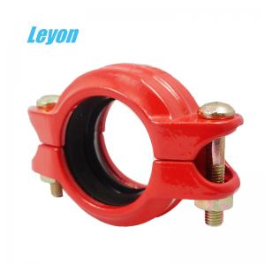 China Grooved Rigid/Flexible Coupling Fire Fighting Grooved Fittings DN50 - DN200 Ductile Iron Pipe Fittings on sale
