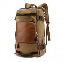 Black Teenagers Canvas 40l Travel Backpack Vintage Style , Waterproof Travel Bag