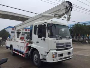 China Man Lift Hydraulic Aerial Work Platform Truck With  360° 5.7m Max Operation Radius on sale