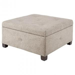 Pleasing Square Fabric Tufted Ottoman With Hinges Storage Ottoman Gmtry Best Dining Table And Chair Ideas Images Gmtryco