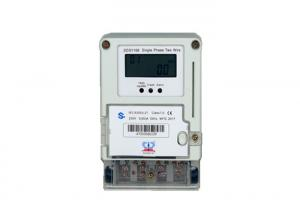China Anti Aging Properties Single Phase Electric Meter , Infrared Kwh Meter 1 Phase on sale