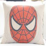 Super hero american film theme cushion,custom print cotton linen cushion
