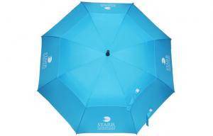 China parapluie protégeant du vent de golf des doubles couches 30Inch avec la nervure de fibre de verre on sale