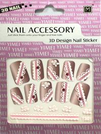 China ODM Eco - friendly Ink And Glue Unique Simple 3d Lace Fingernail Sticker on sale