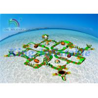 China Lake Sea Floating Obstacle Course / Inflatable Water Park Games For Resort on sale