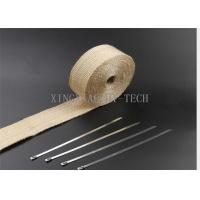 China 550 ℃ Fiberglass Heat Resistant Insulation Tape Different Thickness Multi Colored on sale