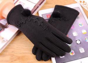 China Plush Women Vintage Touch Screen Compatible Gloves 40-60cm For Winter Outdoor on sale