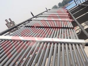 China 100 Tubes Evacuated Tube Collector , Solar Heat Collector For Large Heating Project on sale
