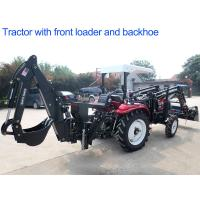 4WD Agriculture Farm Tractors 30hp Diesel Engine With Front Loader And Backhoe