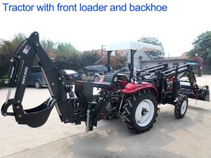China 4WD Agriculture Farm Tractors 30hp Diesel Engine With Front Loader And Backhoe on sale
