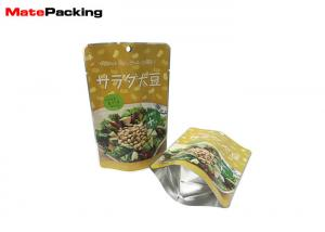 China Heat Seal High Temperature Plastic Bags , Aluminum Foil Retort Resealable Food Pouches For Hot Food on sale