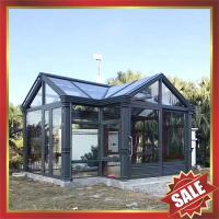 Prefab glass house,sunroom,sunhouse,aluminium house,long life for usage!